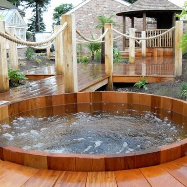 Relax and regain your energy back after taking a bath in the hot tub