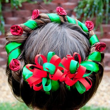 Homemade Christmas hairstyle gives you the best compliments from your kith and kin