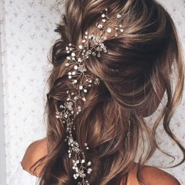 Beads in your hair during your wedding